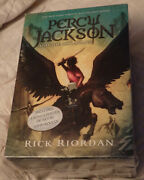 Percy Jackson And The Olympians Complete Series Box Set - 5 Books/poster New