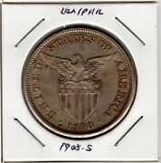 Us Philippine Coinandnbsp1 One Pesoandnbsp1908 S Lot 275a - Silver