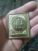Security Supervisor Real Gold Tone Badge. Real Security Officer Badge.