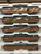 Mth 20-40011 Great Northern 5-car 70' Madison Passenger Set 3 Rail O Scale New