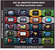 Nintendo Game Boy Advance System Ags101 Backlit Mod-glass Screen-pick Color