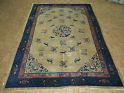 10 X 13'8 Hand Knotted Blue Antique Oriental Rug Chinese Peking Rug G10991
