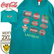 90s Used Clothes Made In Usa Coca Cola Retro Green Short-sleeved T-shirt Menand039s