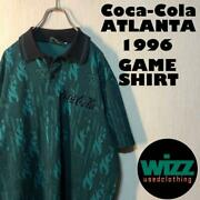90and039s Made In Usa 1996 Atlanta Olympics Coca Cola Total Pattern Polo Shirt Green