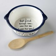 Novelty Sentiment Serving Bowl Gift Set With Bamboo Spoon - Good Friend