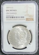 Scarce Date 1899-s 1 Morgan Silver Dollar Unc Details Ngc Full Luster Detail