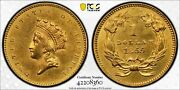 1855 Type 2 Indian Gold Dollar G1 Coin - Certified Pcgs Au Detailed