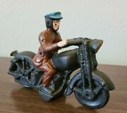 Cast Iron Motorcycle Vintage Toy
