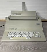 Brother Em-530 Office Electric Typewriter W/ Manual Cover Correction - Tested