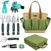 Garden Tool Tote Solid Bag With 11 Piece Hand Tools,best Gardening Gift Set Orga