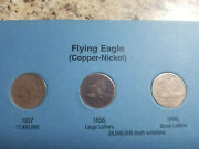 Partial Set Flying Eagle And Indian Head Cent 55 Coins Lacks 3