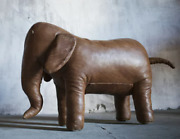 Dimitri Omersa Elephant Vintage Leather Abercrombie And Fitch Antique