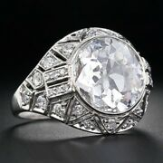 3ct White Round Bezel Set Diamond Antique Engagement Ring In 925 Sterling Silver