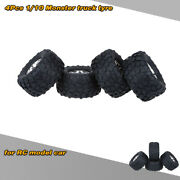 4pcs 1/10 Truck Tire Tyres For Traxxas Hsp Tamiya Hpi Kyosho Rc Car Z0c4