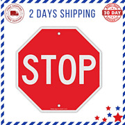 Stop Sign Street Slow Warning Reflective Signs 12 X 12 Inches Octagon Rust Free