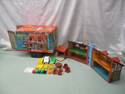 Fisher Price Little People Play Family 952 A36 Tudor House Brown Family Home Bus