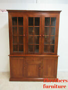 Ethan Allen American Impessions China Cabinet Breakfront Hutch Dsiplay Curio 260