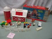 Fisher Price Little People Play Family Farm Barn 915 Cf Tractor Cow Horse Sheep