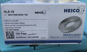 Box Of 100 Heico Hls-18 Wedge Lock Washer Stainless Steel Brand New