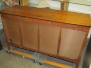 Mid Century Webcor Galaxy Console Tube Amp Am/fm St. Record Player, Tape Record