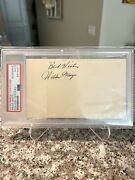 Willie Mays 1952 Government Postcard Gpc Early Autograph Signature Psa