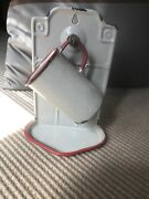 Vintage French Enamelware Soap-cup Rack.
