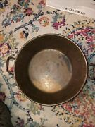 French Copper Jam Preserving Pan Pot Mixing Bowl Rolled Rim Top 15and039and039 Vintage