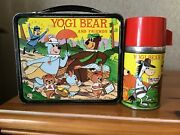 Vintage Yogi Bear And Friends Lunchbox And Thermos