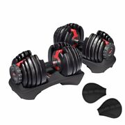 2 Bowflex Selecttech 552 Dumbbells 1 Pair Adjustable Weight From 5 To 52.5 Lb