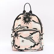 Cruise Line Canvas Backpack Pink 27s