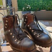 Used Surplus Vintage Leather Swiss Army Boots By Raichle In Marked Size 28