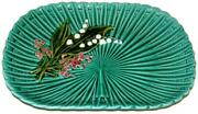 Schramberg Germany Art Nouveau Majolica Lily Of The Valley 12 3/4 Tray