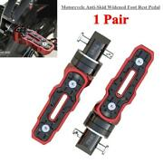 1pair Of Rear Motorcycle Anti-skid Widened Foot Rest Pedal Modified Accessories