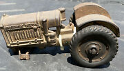 Antique Mccormick Derring Cast Iron Toy Tractor 8andrdquo Long 3andrdquo Tall Rubber Wheel
