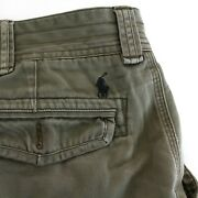 Polo Mens Cargo Shorts Size 42 Tall Army Green Classic Chino