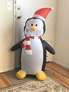 Holiday Living Inflatable Lighted Christmas Penguin 4andrsquo Ft Outdoor Decoration