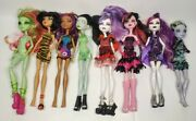 1st Wave 2008 Monster High Doll Lot Of 8 Ghoul Spectra Valentine Scarah Duchick