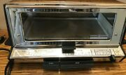 Vintage General Electric Ge Deluxe 473a Toast-r-oven Chrome Toaster Oven