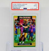 Aaron Rodgers 2006 Topps Chrome Refractor 14 Green Bay Packers Psa 9 Mint