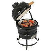 13 Inch Kamado Grill Ceramic Charcoal Egg Grill Outdoor For Bbq Camping Picnic