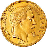 [859193] Coin France Napoleon Iii 50 Francs 1866 Strasbourg Ms63 Gold