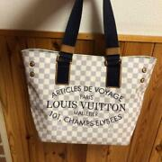 Louis Vuitton Damier Azul 2012 Limited Plan Soleil Hippo Pm Tote From Japan