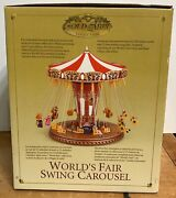 The Gold Label Collection World's Fair Swing Carousel New Mr Christmas 2004