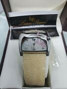Lucien Piccard Barletta Stratosphere Wrist Watch Jewels Stingray Leather Band