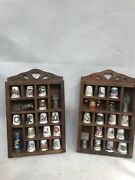 Thimble Display Cases With Unique Thimbles Pewter China Mixed Lots Collectibles
