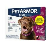6 Doses Pet Armor Plus For Large Dogs 45-88 Lbs