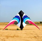 2.8m Colorful Large Delta Triangle Kite With Flying Tools For Audlts Outdoor Toy