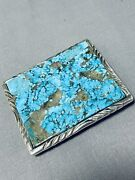 The Best Vintage Navajo 8 Turquoise Inlay Sterling Silver Buckle
