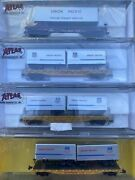 N Scale Atlas Tofc Piggyback Flat Car Trailer Union Pacific Up 4rd Runner Pack