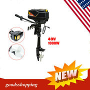 1000w Electric Outboard Motor Trolling Motor Inflatable Boat Fishing 48v